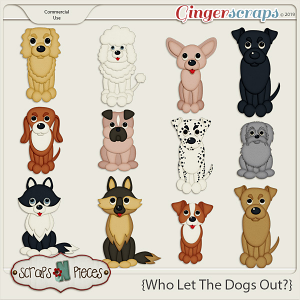 Who Let The Dogs Out CU Templates by Scraps N Pieces