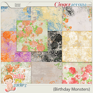 Birthday Monsters Shabby Papers