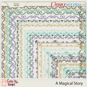 A Magical Story Page Borders