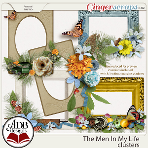The Men in My Life Clusters by ADB Designs