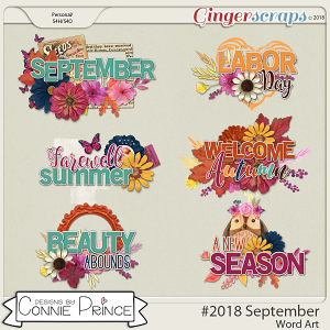 #2018 September - Word Art Pack by Connie Prince