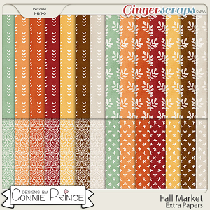 Fall Market - Extra Papers by Connie Prince