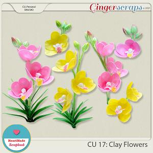CU 17 - Clay flowers