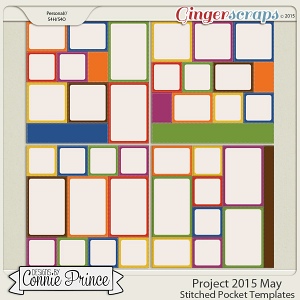 Project 2015 May - Stitched Pocket Templates