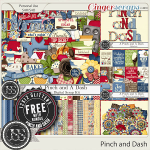 A Pinch and A Dash Digital Scrapbook Bundle