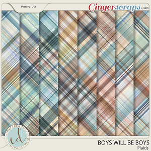 Boys Will Be Boys Plaids by Ilonka's Designs