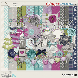 Snowed In Digital Scrapbook Kit by Dandelion Dust Designs