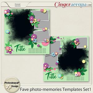 Fave photo-memories Templates Set1