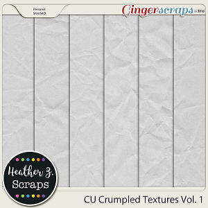 CU Crumpled Textures VOL 1 by Heather Z Scraps