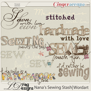 Nanas Sewing Stash: Wordart