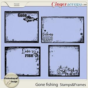 Gone fishing Stamps & Frames