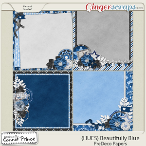 {HUES} Beautifully Blue - PreDeco Papers
