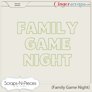 Family Game Night Alpha - Scraps N Pieces