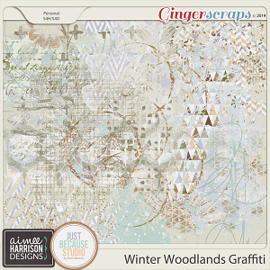 Winter Woodlands Graffiti by Aimee Harrison and JB Studio