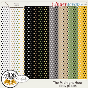 The Midnight Hour Dotty Papers by ADB Designs