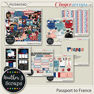 Passport to France BUNDLE by Heather Z Scraps