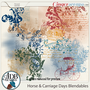 Horse & Carriage Days Blendables by ADB Designs