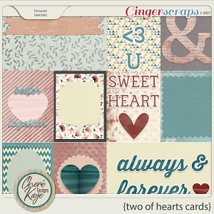 Two Of Hearts Cards by Chere Kaye Designs