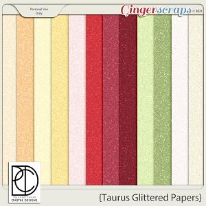Taurus (Glittered Papers)