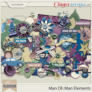 Man Oh Man Elements by JoCee Designs