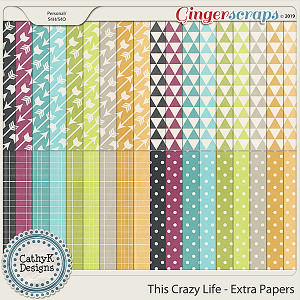 This Crazy Life - Extra Papers by CathyK Designs