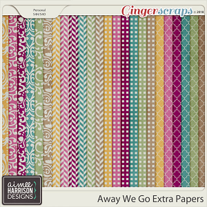 Away We Go Extra Papers by Aimee Harrison