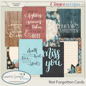 Not Forgotten Journal Cards