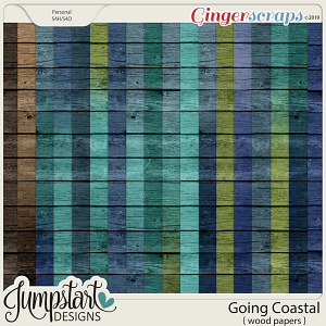 Going Coastal {Wood Papers} by Jumpstart Designs