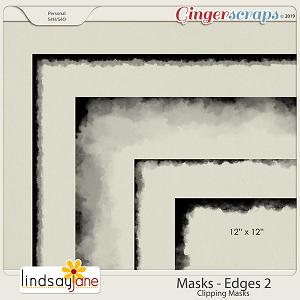Masks Edges 2 by Lindsay Jane