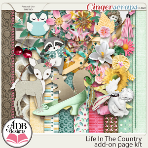 Life In The Country Add-on Page Kit by ADB Designs