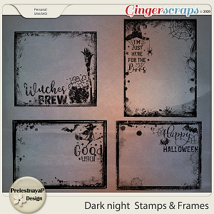 Dark night Stamps & Frames