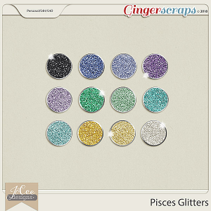 Pisces Glitters by JoCee Designs