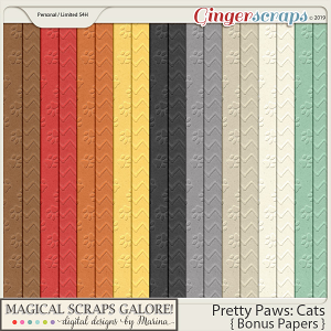 Pretty Paws: Cats (bonus papers)