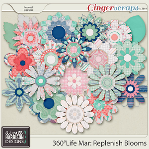 360°Life Mar: Replenish Blooms by Aimee Harrison