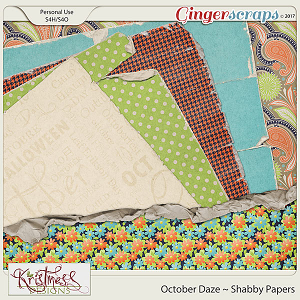 October Daze Shabby Papers