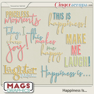 Happiness Is WORD ART by MagsGraphics
