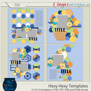 Hexy Hexy Templates by Miss Fish