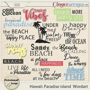 Hawaii: Paradise island Wordart