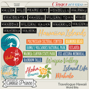 Travelogue Hawaii - Word Bits
