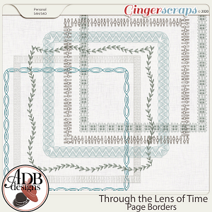 Through The Lens of Time Page Borders by ADB Designs