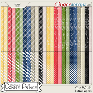 Car Wash  - Extra Papers by Connie Prince