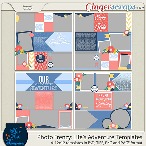 Photo Frenzy: Life's Adventure Templates by Miss Fish