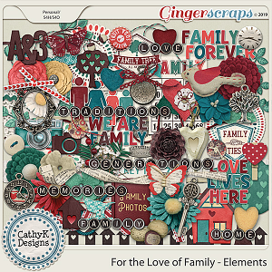 For the Love of Family - Elements by CathyK Designs