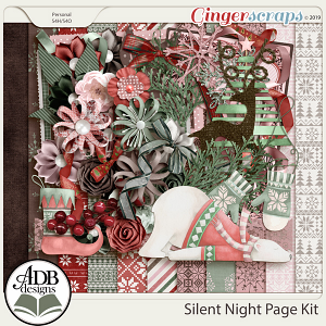 Silent Night Page Kit by ADB Designs