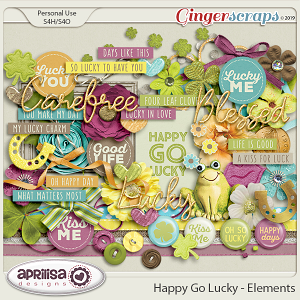 Happy Go Lucky - Elements by Aprilisa Designs