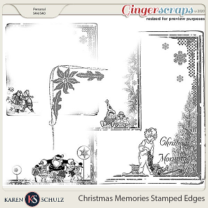 Christmas Memories Stamped Edges by Snickerdoodle Designs
