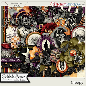 Creepy Digital Scrapbooking Kit