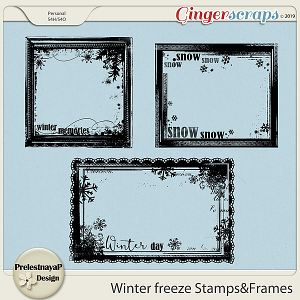 Winter freeze Stamps&Frames