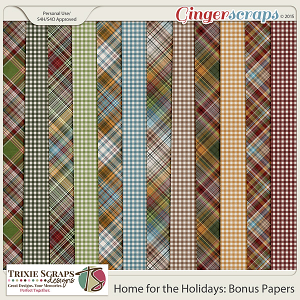 Home for the Holidays Bonus Papers by Trixie Scraps Designs