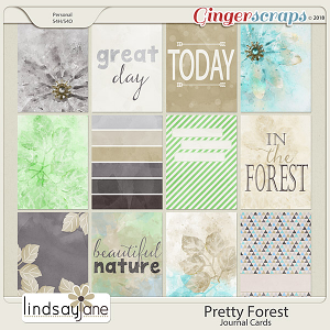 Pretty Forest Journal Cards by Lindsay Jane